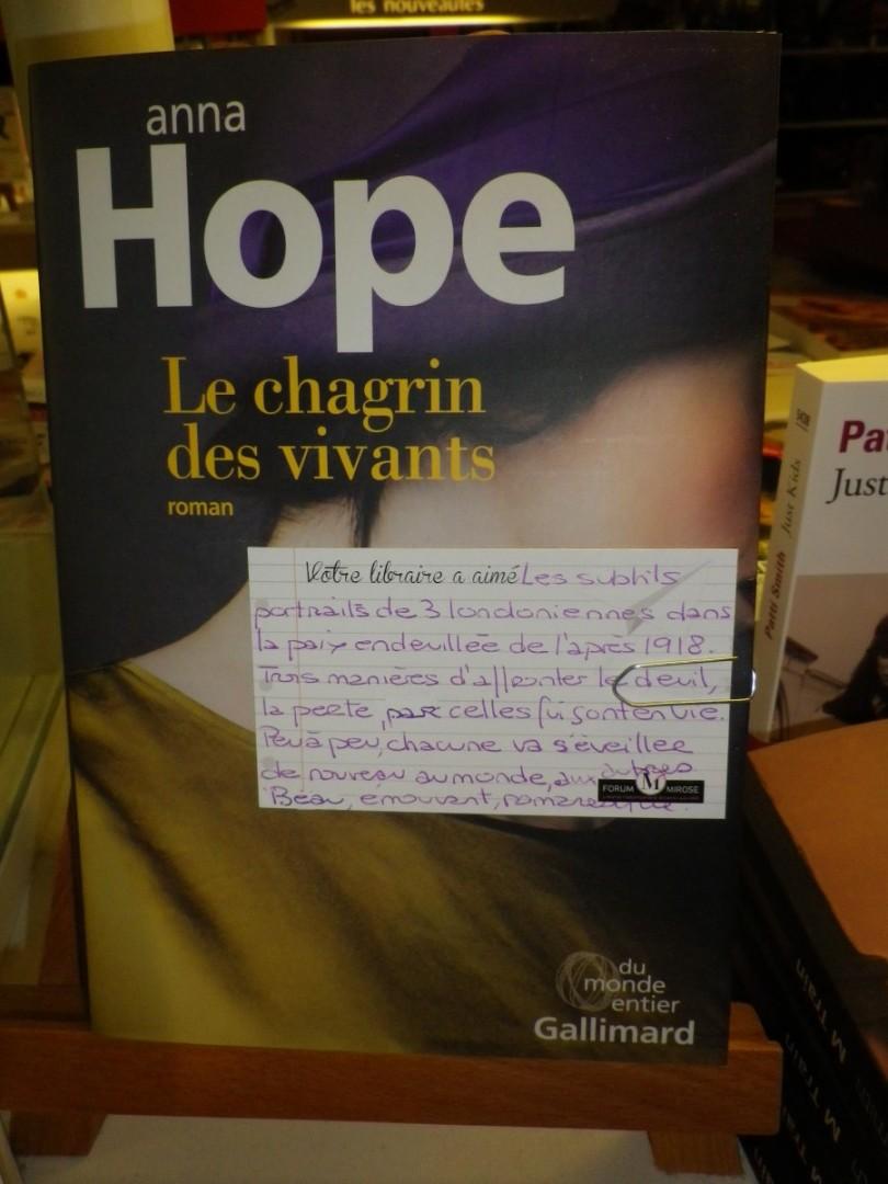 CHAGRIN DES VIVANTS HOPE GALLIMARD FORUM  MIROSE