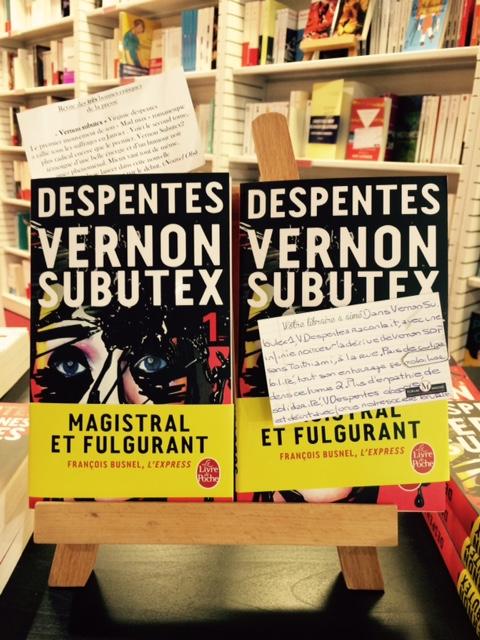 Virginie Despentes subutex forum  mirose roanne librairie roman