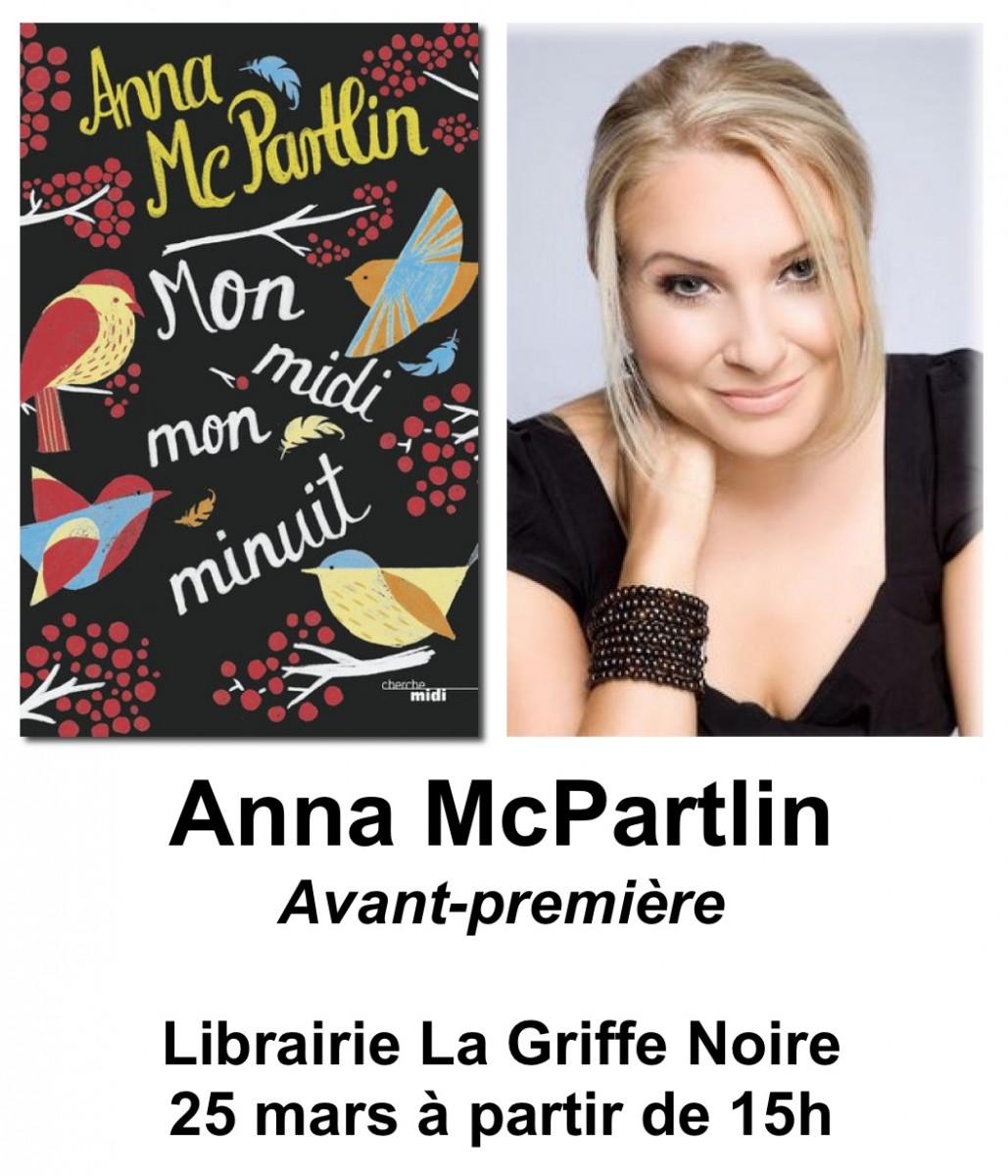 """Anna McPartlin en avant première à la librairie """"La Griffe Noire"""""""
