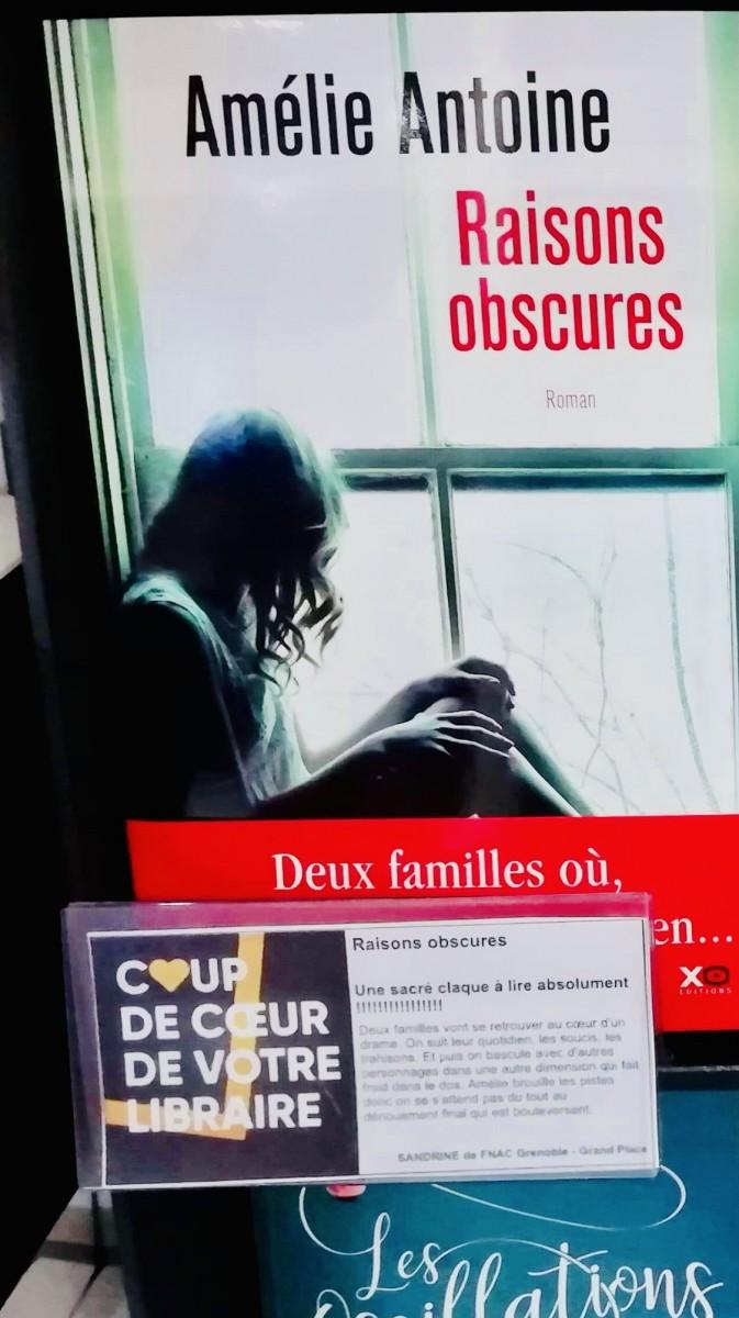 Raisons-Obscures-Amelie-Antoine-FNAC-Grenoble
