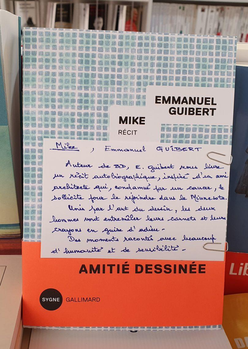 Mike de Emmanuel Guibert Editions Gallimard