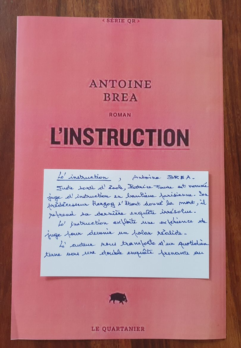 L'instruction de Antoine Brea