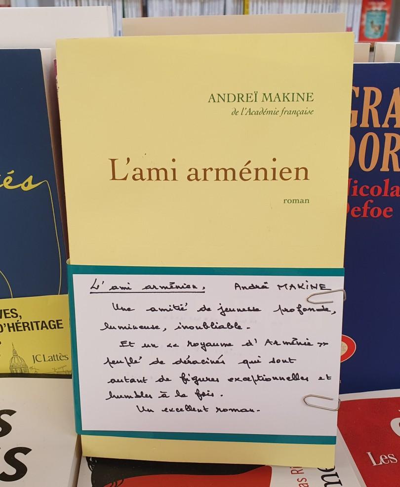 L'ami arménien de Andreï Makine éditions Grasset