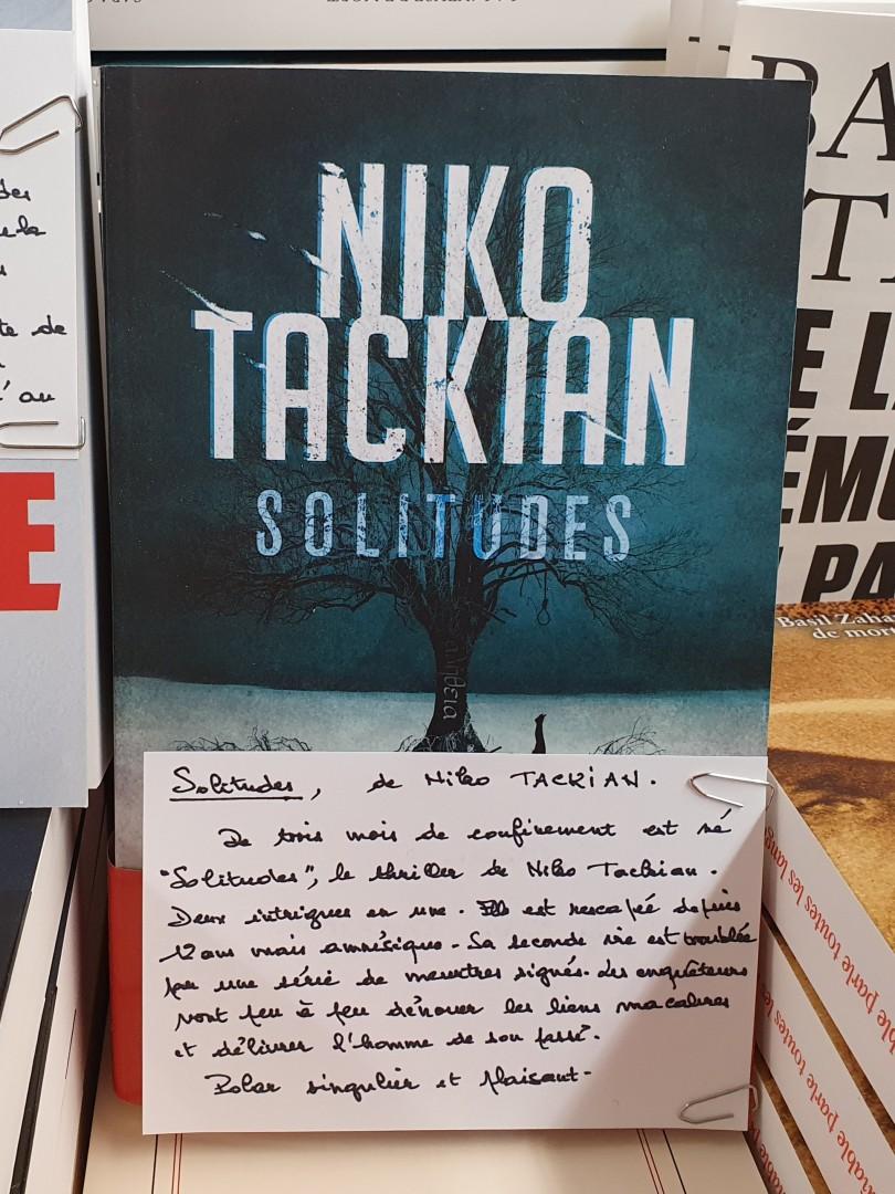 Solitudes de Niko Tackian Editions Calmann Lévy