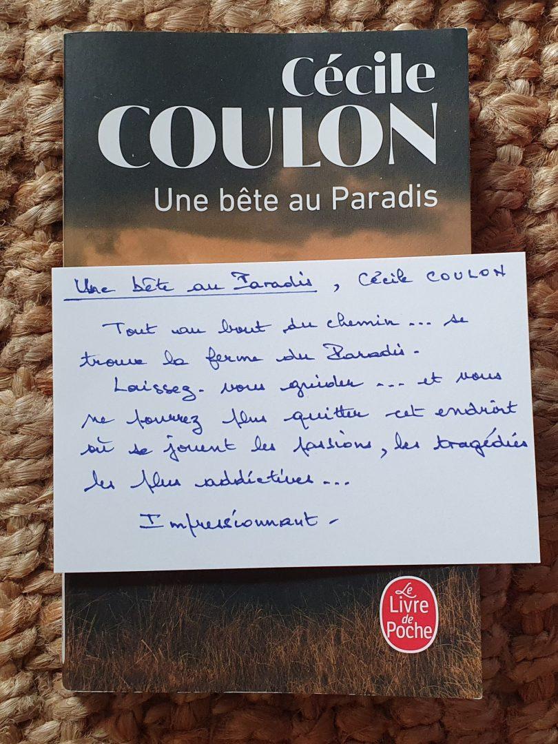 Cécile Coulon - Une bête au Paradis